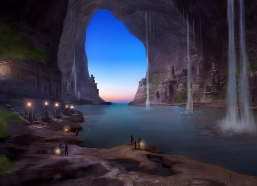 Concept: Lozirian cave city by Ranarh