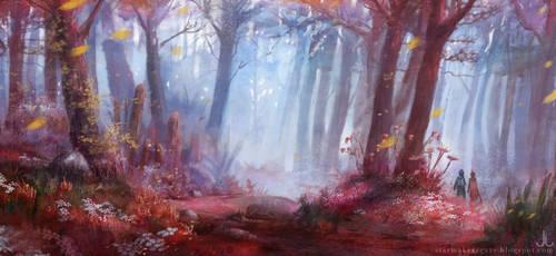 Genius Loci: Red Forest by Ranarh