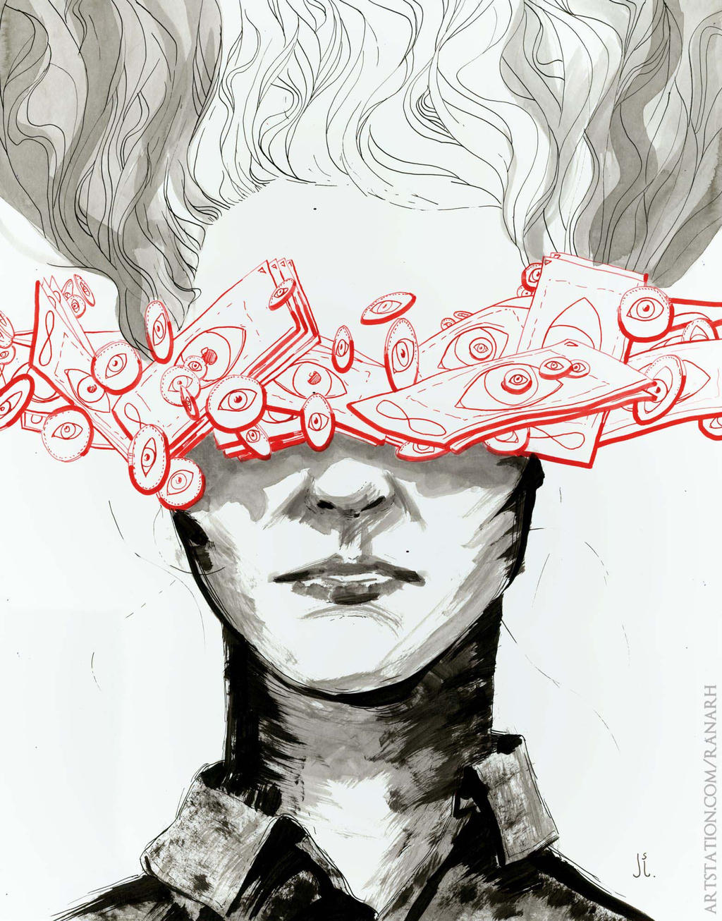 Month of Fear/Inktober: Blindness by Ranarh