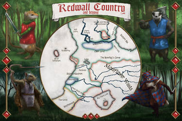 Redwall Illustrated Map by Ranarh
