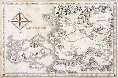 The Witcher Map by Ranarh