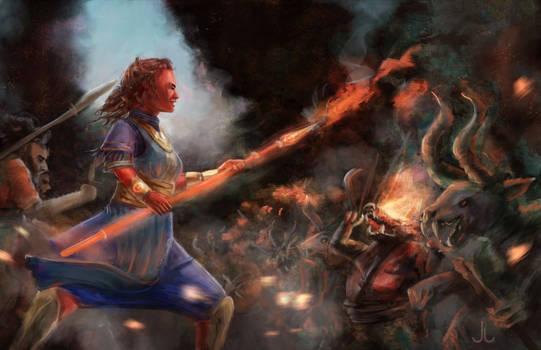 Lava Spear Spell - RuneQuest