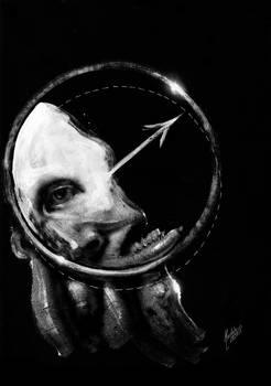 Portrait on black background VI