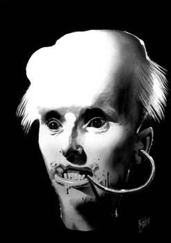 Portrait on black background XIII