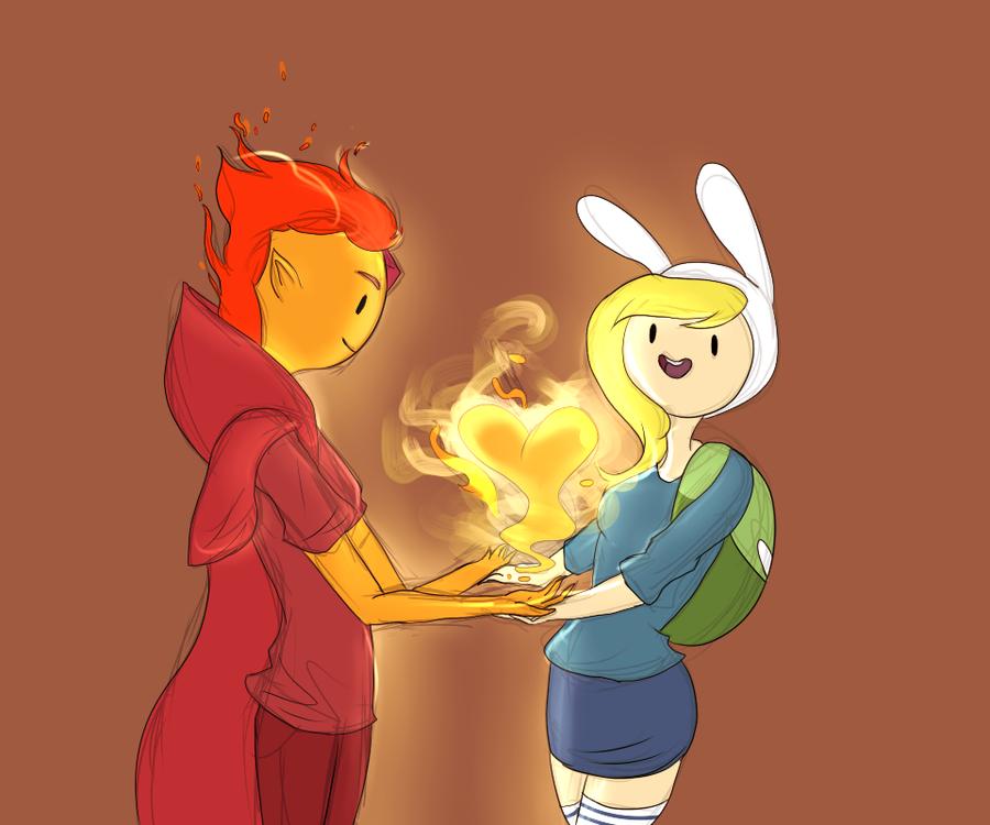 Adventure Time Flame Prince Comic Flame Prince and Fionn...