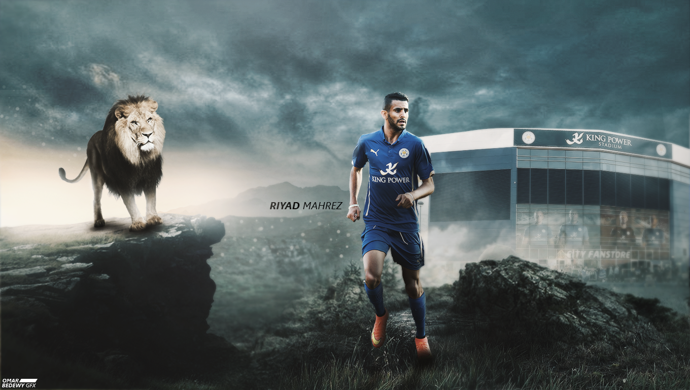 Riyad Mahrez 2015/2016 Wallpaper By OmarBedewyGFX On