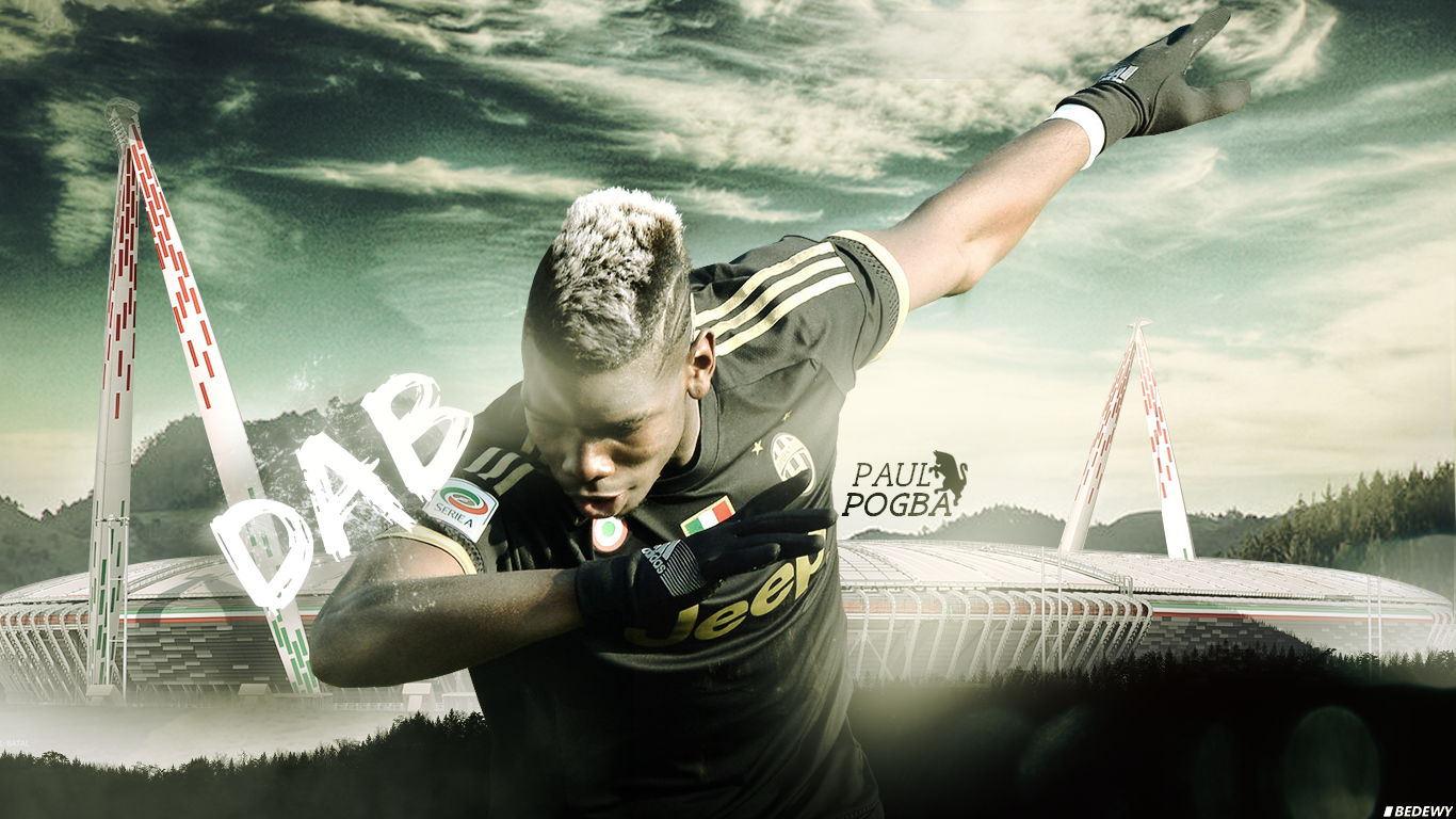 Paul pogba dab dance wallpaper by omarbedewygfx on for Fond d ecran juventus pc