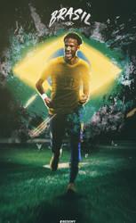Neymar - Brazil by OmarBedewyGFX