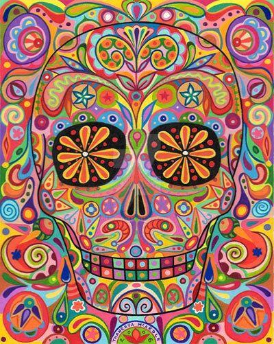 Dia de los muertos mural by awesomelatinoartist for Dia de los muertos mural