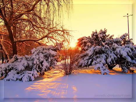 Winter Sunset Above Sofia