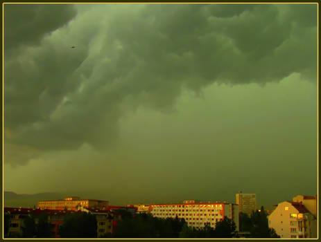 Storm Above City