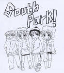 south park gang -uncolored-
