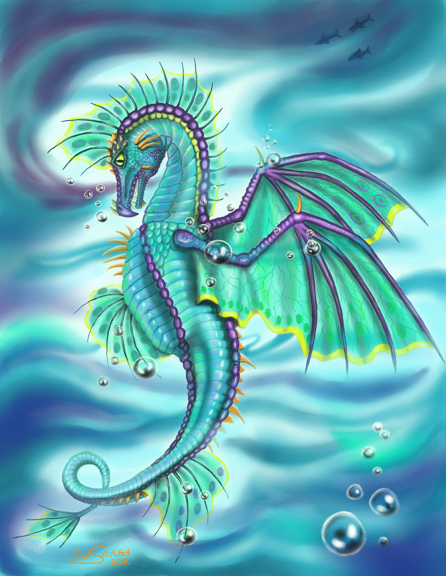 Painted Sea Dragon... by Artsy50 on DeviantArt