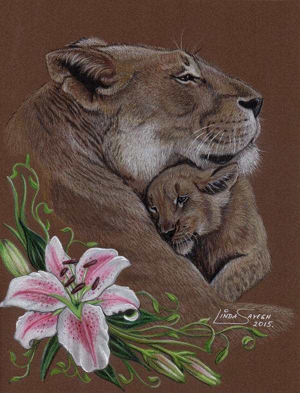 Lions, Love and Lillies by Artsy50