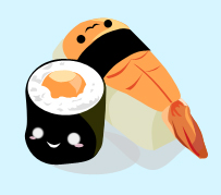 sushi dude and friend by mistyteardrops