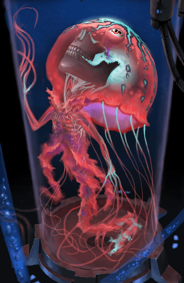 Human jellyfish by phill art on deviantart for Jelly fish art