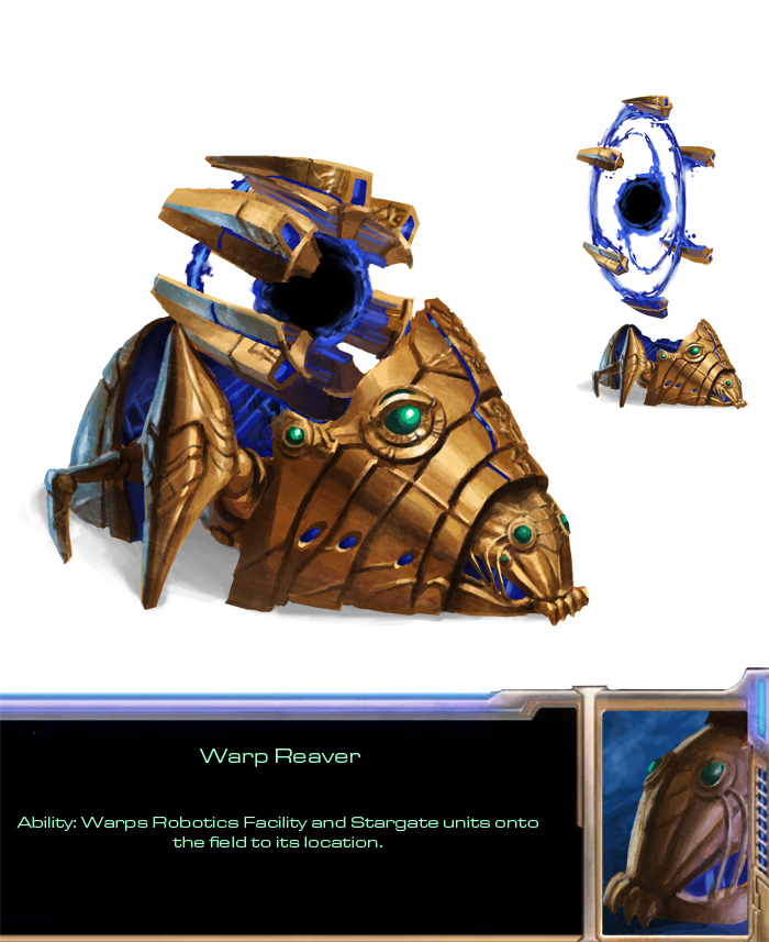 Protoss Warp Reaver by Phill-Art