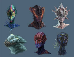 Alien Head Concepts 2