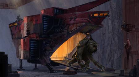 Rancor Transport - ILM Challenge by Phill-Art