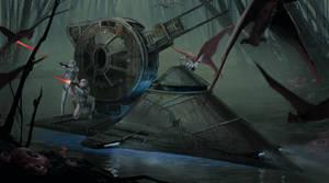 Empire Swamp Skiff - ILM Challenge