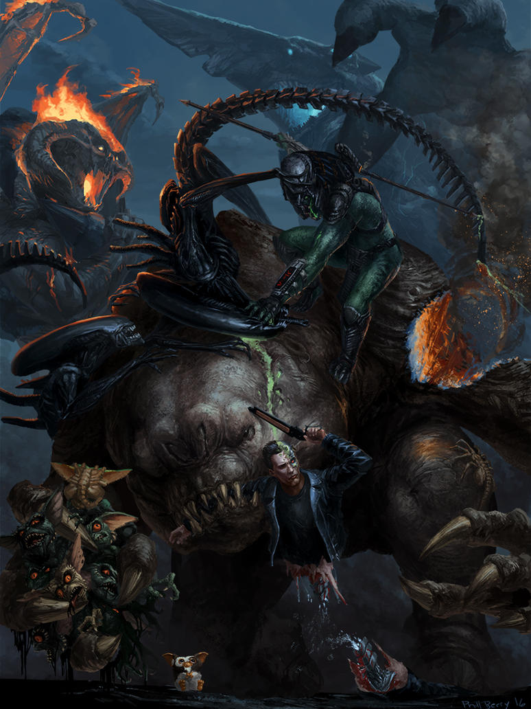 Monster Battle by Phill-Art