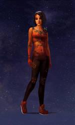 Planet Girl Mars by Phill-Art