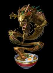 Ramen Dragon by Phill-Art