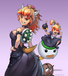 Bowsette and Bowsette Jr. by Phill-Art