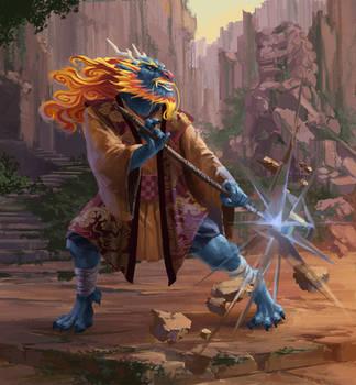 Dnd Shalin the Eastern Dragonborn by Phill-Art