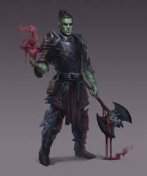 Commission - Half Orc Blood Hunter