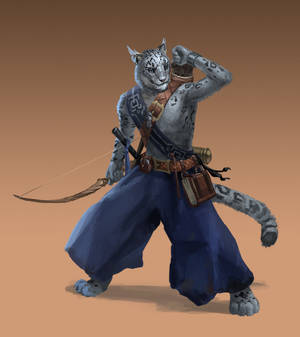 Commission - Tabaxi Monk