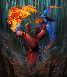 Fire Genasi Monk