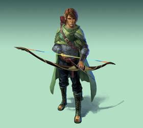 Commission - Wood Elf Rogue