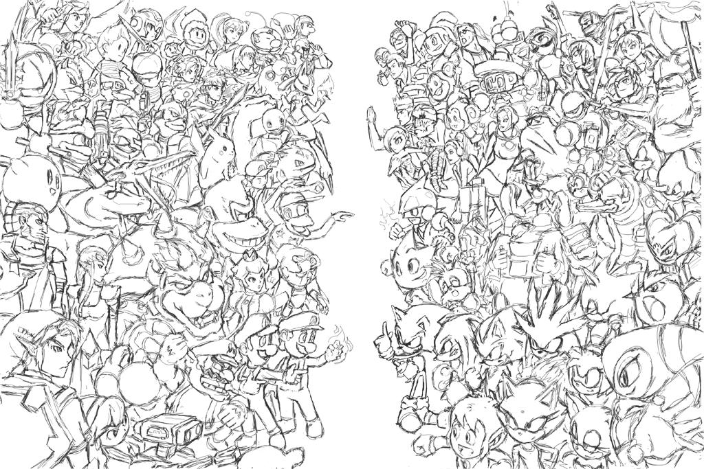 Random Princess Coloring Pages : Nintendo vs sega by phill art on deviantart