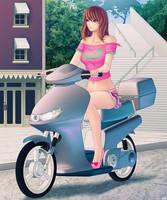 Scooter Ride by Khalitzburg