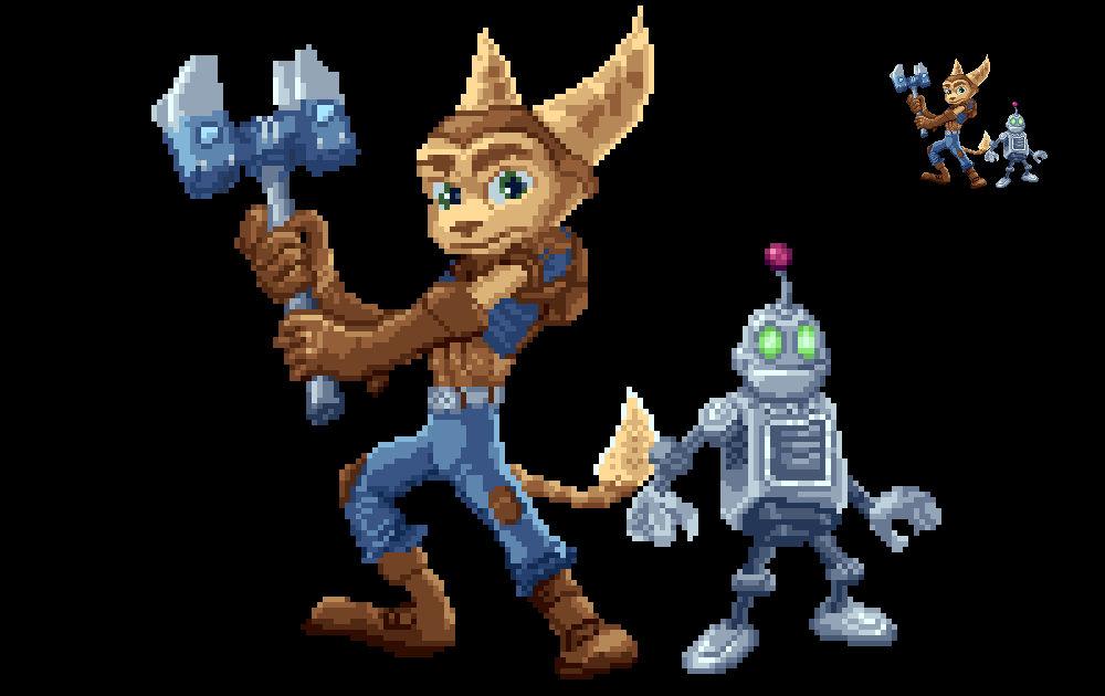 Pixel Art: Ratchet Clank