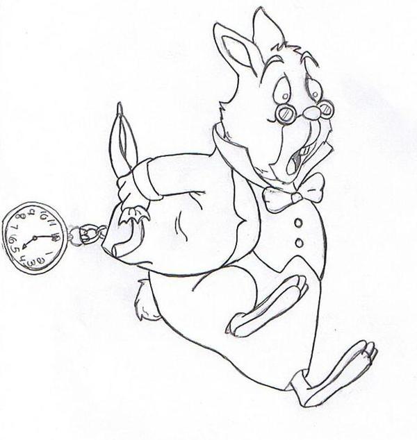 WhiteRabbit Alice n Wonderland by witchiamwill on DeviantArt