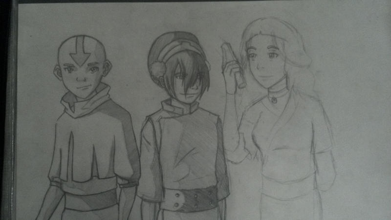 Avatar: TLA Sketch by witchiamwill