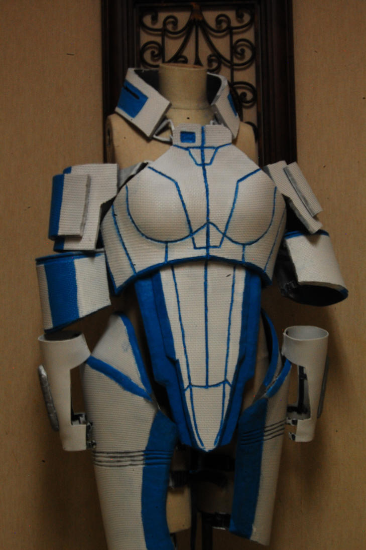 Liara armor wip by witchiamwill