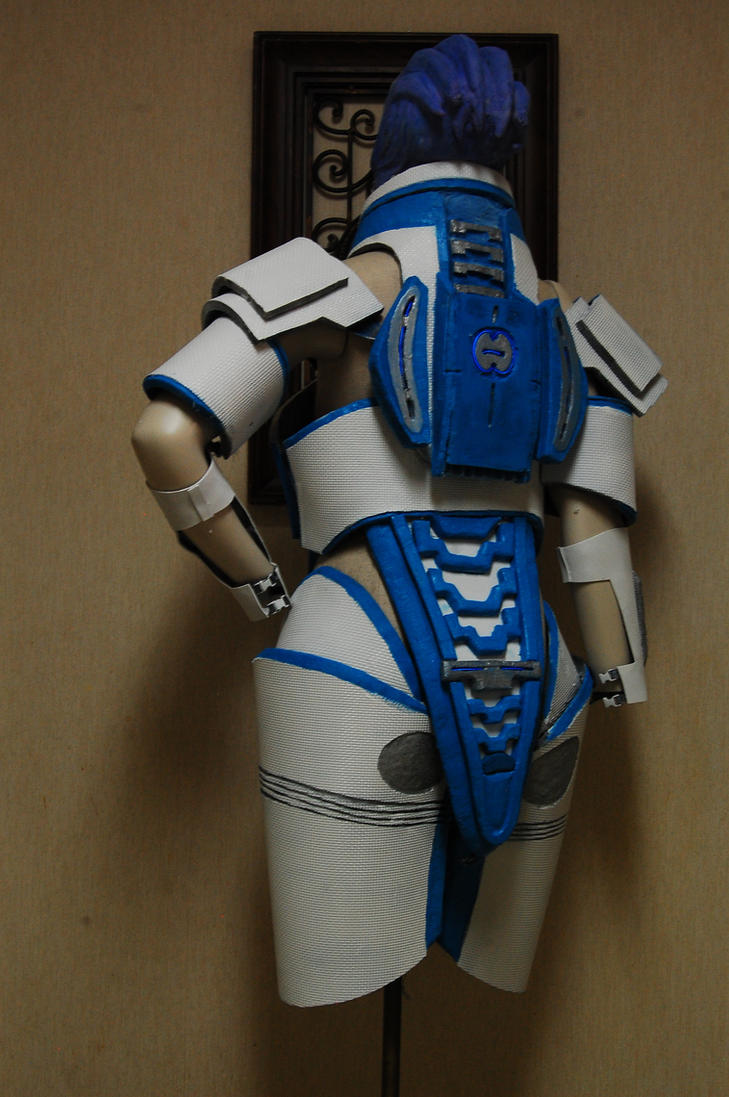 Liara armor wip 3 by witchiamwill