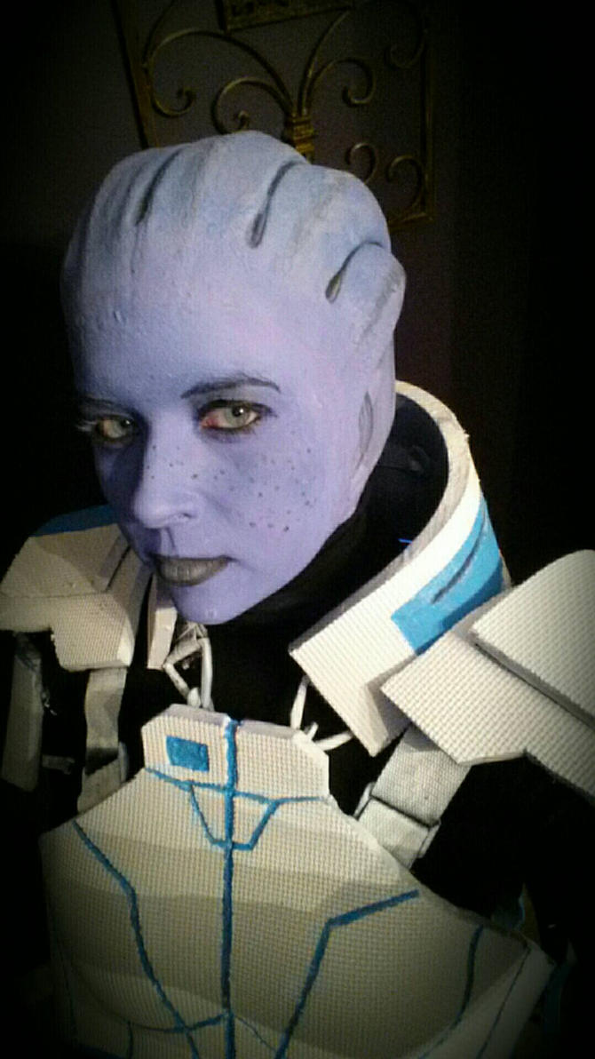 Liara progress Mass Effect by witchiamwill