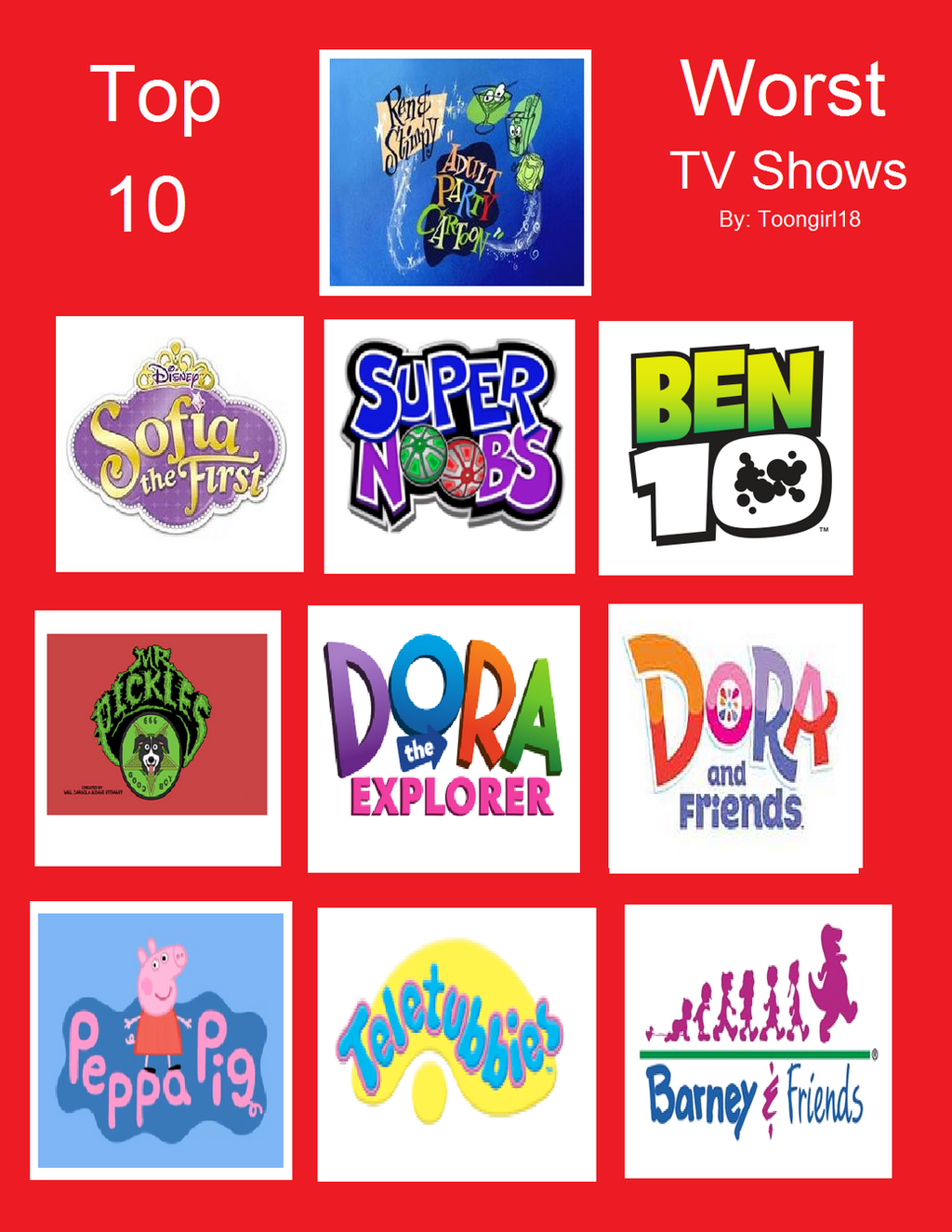Top 10 worst tv shows by lygiamidori on deviantart for Craft shows on tv