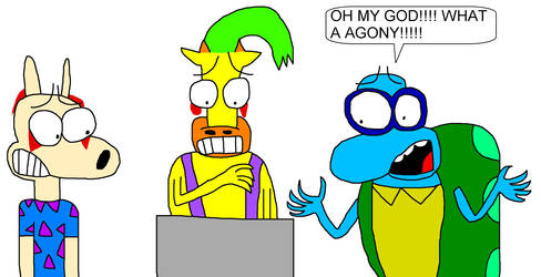 Scary Cartoon Reacts 1: Shed 17 by lygiamidori