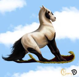 Howryx on a flying carpet