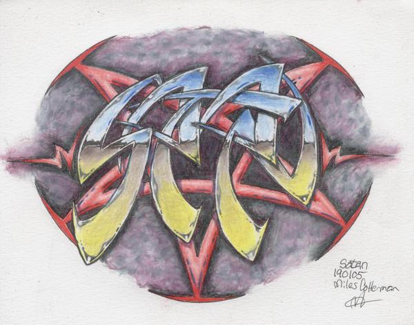 satan tattoo by southofheavendesigns