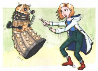 Thirteenth Doctor with Dalek by Quarantine1977