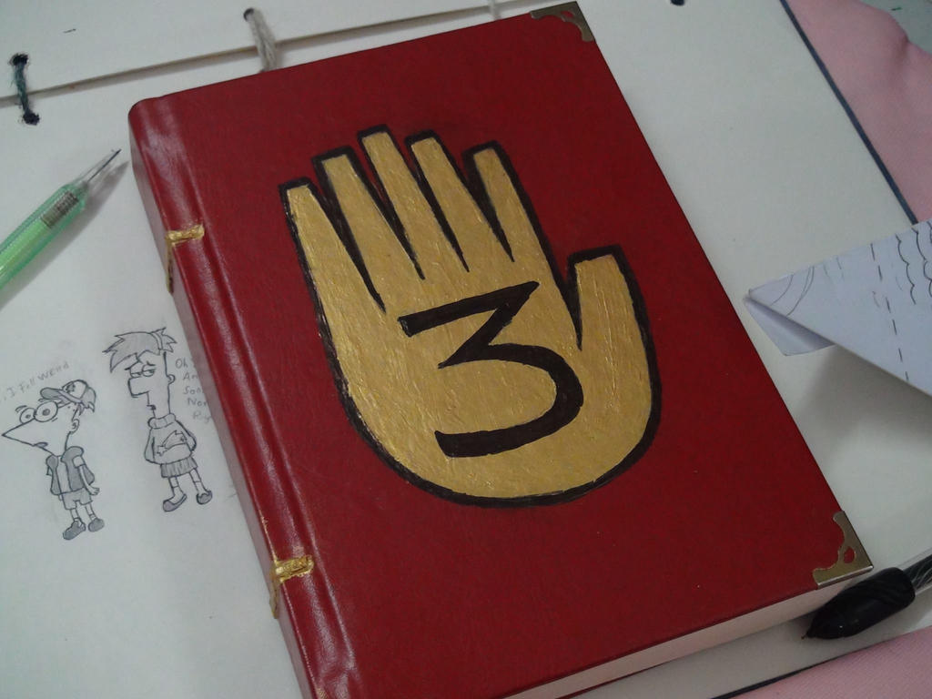 How To Make A Realistic Book Cover : Gravity falls journal cover model by leoflynn on deviantart
