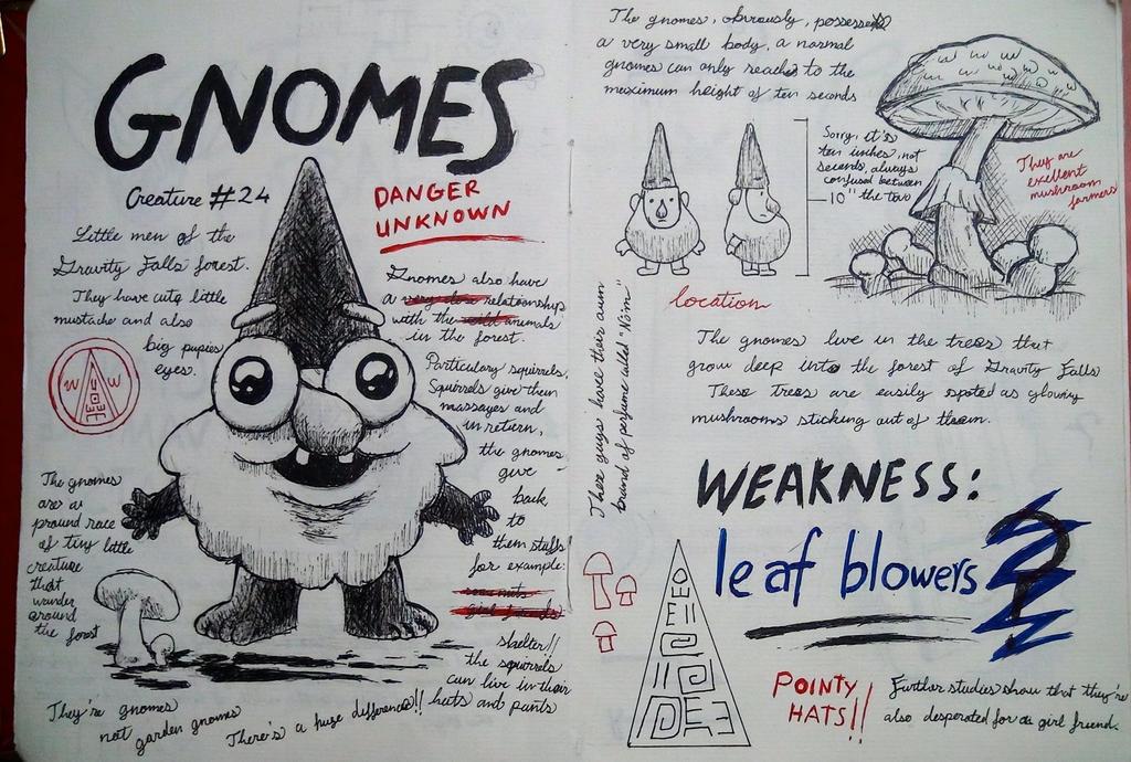 Gravity falls journal 3 replica gnomes page by leoflynn for Koch 6 backjournal