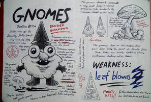 Gravity Falls Journal 3 Replica - Gnomes page by leoflynn