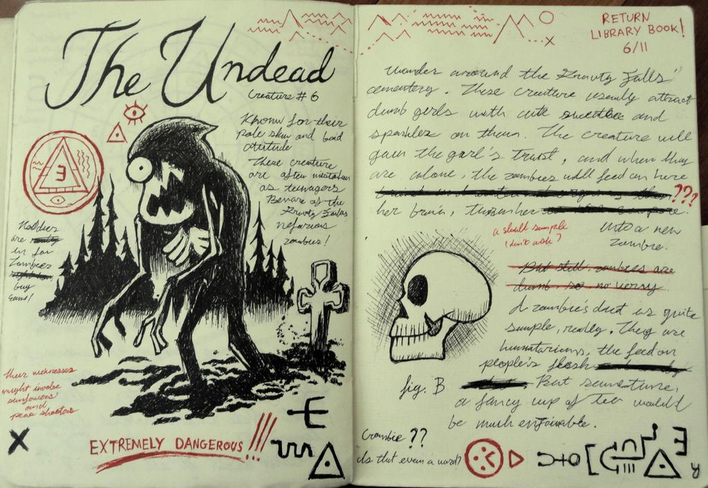 Gravity Falls Journal 3 Replica - The Undead by leoflynn